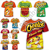 Fashion Women Men 3D print Hot Cheetos food Casual T-Shirt Short Sleeve Tops Tee