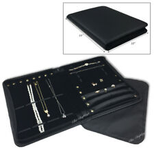 Jewelry Combination Folder Black Leatherette Travelling Case Showcase Carry Case