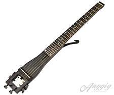 Anygig AGS Full Length Left Handed Traveler Protable Guitar 6 String Black