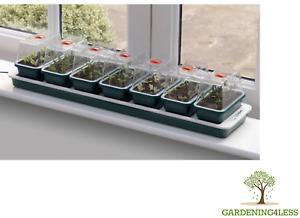 Garland Super 7 Electric Heated Windowsill Propagator Seed Plant Vented Tray