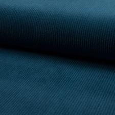 Stoff Cord Cordstoff Breitcord Kinderstoff Dekostoff Baumwolle Meterware blau
