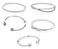 925 Silver PAN MOST POPULAR Special Moments Open Bangle Bracelet fit Charms