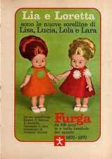 Q48  Pubblicità Advertising 1970 Bambole Lia e Loretta Furga