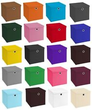 Faltbox 33 x 33 x 33 cm passend für Ikea Kallax Expedit Einschubkorb Regal box