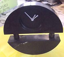 Ancienne Pendule à Poser Design 1970 Bois Vintage ( + de 1600 Grammes )