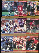 1990 PRO SET SERIES 1 FOOTBALL COMPLETE SET-378 (377)