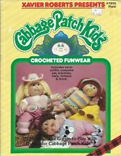 Cabbage Patch Kids CROCHETED FUNWEAR Xavier Roberts Plaid #7858 Crochet