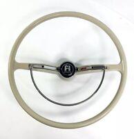 Gray Steering Wheel w/ Horn Button Ring for 1962-1971 VW Beetle Karmann & Type 3