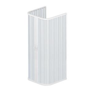 Box doccia Saturnia 75x75x75 cm riducibile in pvc a soffietto apertura centrale