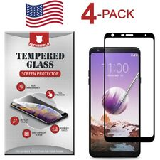 For LG Stylo 5 Full Edge Tempered Glass Screen Protector Bubble Free [4-Pack]