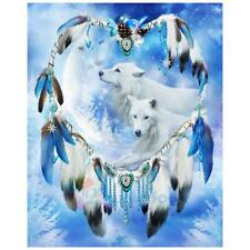 5D Wolf DIY Diamond Embroidery Painting Dream Catcher Cross Stitch Home Decor