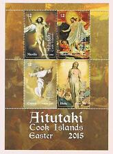 Aitutaki 2015 Easter Postage Stamp Souvenir Sheet Issue