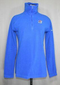 Columbia Kansas Jayhawks Long Sleeve Full Zip Fleece Women's Size Small