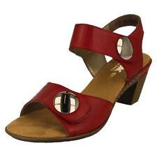 Sandali e scarpe casual rosso Rieker per il mare da donna