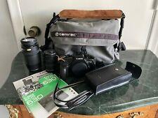 Canon EOS 630 35mm SLR Film Camera Body 2X Zoom Lens Flash Manuals Excellent