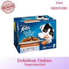 Felix As Good As It Looks Cat Food Meat Selection 12 X 100g Chicken Duck Pork ..