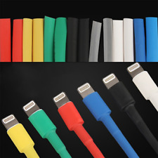 14pcs Heat Shrink Tube Wrap Sleeve For iPhone USB Data Charger Cord Cable Repair