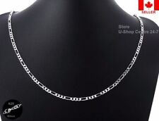 4Pcs.925 Sterling Silver Quality Figaro Necklace Chain 1.6mm Width 20 inch
