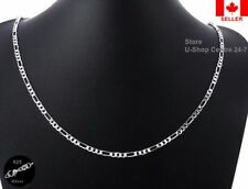 4Pcs.925 Sterling Silver Quality Figaro Necklace Chain 1.6mm Width 24 inch