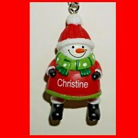 Snowman Ornament Ganz Jolly Jingles Christmas  Personalized Choose Name New