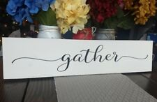 "24"" Large FARMHOUSE wood sign GATHER farmhouse GATHER sign kitchen wood sign"