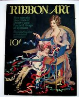 """1920's Booklet """"Ribbon Art""""  w/ Flapper Fashions w/ Colored Illustrations *"""