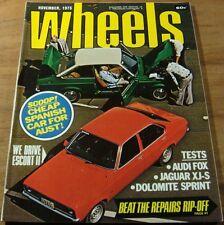 1975.Wheels.FORD ESCORT II.Jaguar XJ-S.TRIUMPH Dolomote Sprint.Audi FOX