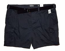 Sonoma Mens Big & Tall Size 50 Belted Cargo Shorts Pepper Gray 6-Pocket NEW $60