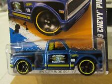 Hot Wheels Custom 69 Chevy Pickup HW City Works Blue