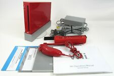 Nintendo Wii Red Console With Red Wii Motion Plus Controller Complete