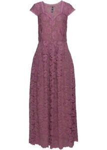 Maxikleid Gr. 40 beere Spitzenkleid Abendkleid elegantes Spitze Kleid neu