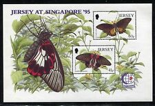 Jersey 727-731, 731a sheet. SINGAPORE-1995 Insects Butterflies. x26168