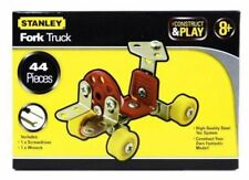 NEW STANLEY CONSTRUCT AND PLAY FORK TRUCK 44 PIECES SET HQ STEEL  AGE 8+