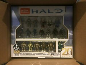 Mega Construx Pro Halo 20th Anniversary Character 5 Pack Amazon Exclusive
