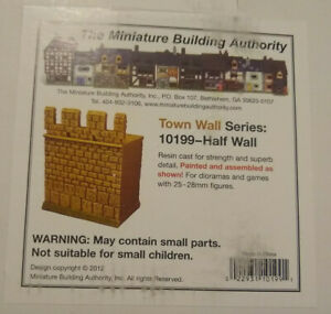 MBA 25mm Town Wall Series 10199 - Half Wall Miniature Building Authority