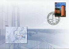 Latvia 2019 FDC Slitere Lighthouse 1v Set Cover Lighthouses Architecture Stamps