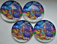 4 McDonald's 4th of July Plates 1998 - Ronald, Birdie & Grimace - Unused