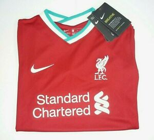 Nike Liverpool FC 2020/21 Youth Unisex Sz. L/G Home Red Soccer Jersey, New