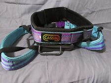 Vintage Cassin Sit Harness Climbing Spelunking Mountaineering Size 3 Teal/Purple