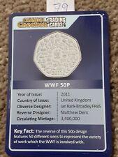 CHANGE CHECKER TRADING CARD. WWF. 50P