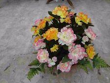 künstliche Blumen  pflanzen  blumen  Grabgesteck  Nelken mix