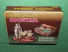 Superbe C1930 ART DÉCO cocktail temps lithographed HUNTLY & palmer tin