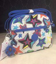 New $89 Kipling Keefe Mystic Sunset Geometric Stars Crossbody or Shoulder Bag