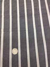 "Sheeting Fabric Stripe  Black/ White 100% Cotton 94"" 240 Cm"