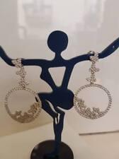 Orecchini donna farfalle pendenti argento 925, zirconi bianchi  Earrings Silver