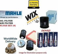 PER NISSAN X TRAIL 2.0 2001-2007 KIT REVISIONE OLIO ARIA Filterset & 4X CANDELE