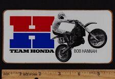 1983 BOB HANNAH HONDA STICKER Vintage Motocross Supercross CR250R CR125R CR480R