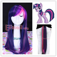 "My Little Pony Twilight Sparkle Purple/Pink Cosplay Wig Tail 55cm/22"""