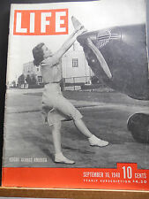 Life Magazine September 1940 Flight Across America WWII Pictures And Stories' s