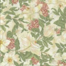 3 Yds Northcott Bella Floral Quilt Fabric in Creams